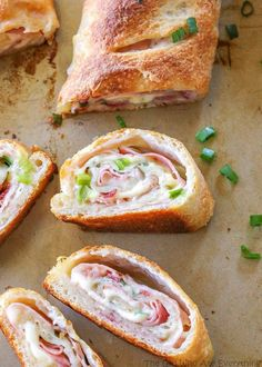 Ham and Swiss Stromboli  - Delish.com