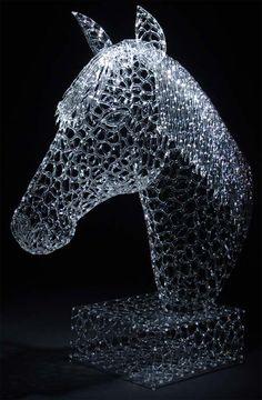 Detailed Glass Sculpture  by Robert Mickelsen