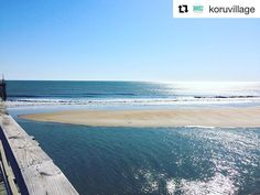 #Repost @koruvillage An UNREAL sandbar by the Avon Pier today! Come set up your beach chair in the sun take a walk on it or skimboard! The water is still in the mid 70's so make sure you enjoy it! #AvonPier #AvonNC #AmericasPier #KoruVillage #hatterasisland #hatteras #obx #sandbar #island #fun #explore #discover