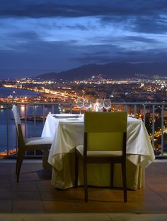 Could you imagine yourself sitting here, enjoying a nice glass of wine.... a great view of Malaga city,... Andalucía, Spain.