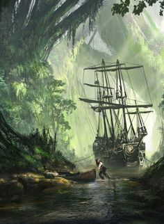 CyberClays — Un Pirate - Pirates of the Caribbean fan art by.You can find Pirates of the caribbean and more on our website.CyberClays — Un Pirate - Pirates of the Ca. Pirate Art, Pirate Life, Pirate Ships, Caribbean Art, Pirates Of The Caribbean, Fantasy World, Fantasy Art, Old Sailing Ships, Ship Paintings