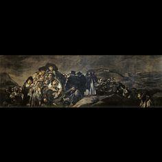 La romería de San Isidro es una de las Pinturas negras que formaron parte de la decoración de los muros de la casa llamada la Quinta del Sordo que Francisco de Goya adquirió en 1819. Esta obra ocupaba probablemente la pared derecha de la planta baja según se entraba.