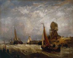 Clarkson Frederick Stanfield, Oude Scheld - Texel Island, Looking towards Nieuwe Diep and the Zuider Zee, exhibited 1844
