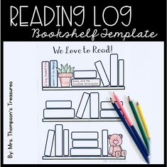 Free reading log bullet journal bookshelf template. #readinglog #bulletjournal