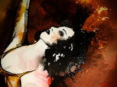 Natacha | Detail - Vintage Beauty  Pin-Up Art of Therese Rosier  Watercolors | Ink | Acrylic