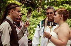 Alicia & Jonah's nature-focused Native American wedding