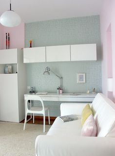 Image result for ikea desk in wall unit