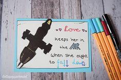 Selbstgemachte Valentinstagskarte: Love keeps her in the Air (Firefly / Serenity)