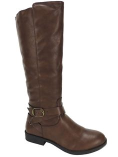 Style&co. Women's Madixe Casual Riding Boots Cognac Brown Size 7 M #Styleco #RidingEquestrian #Casual