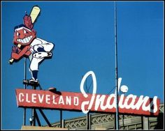 Indians sign welcomed visitors to Municipal Stadium from 1938 to 1993