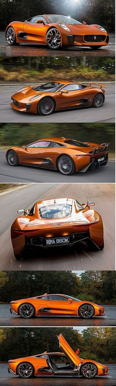 ✨  Jaguar C-X75 - James Bond / Spectre Car... Jaguar wouldn't be taking its C-X75 out of the cinematic realm and into our driveways...