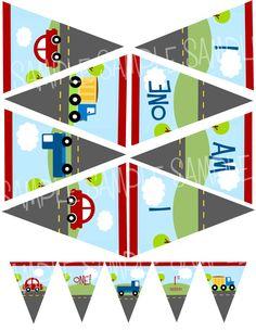 LITTLE CARS and TRUCKS High Chair Banner by littlebirdieprints, $5.00