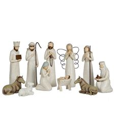 Cream Full Nativity Scene, Set of 11 ($50) ❤ liked on Polyvore featuring home, home decor, holiday decorations, alabaster statue, holiday home decor, resin statues, holiday decor and ivory statues