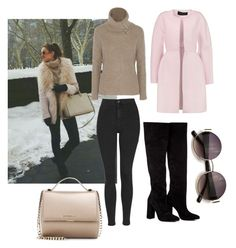 """Snow & Pink"" by rhmz on Polyvore featuring Topshop, Autumn Cashmere, Givenchy, Anouki, Giambattista Valli, women's clothing, women's fashion, women, female and woman"
