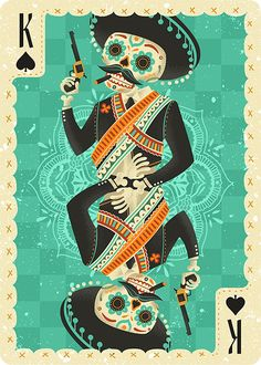 Fuego Playing Cards: The King of Spades