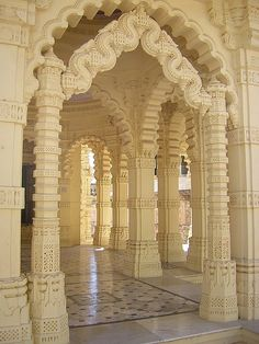 Jain architecture at Palitana Temples in Gujarat, India