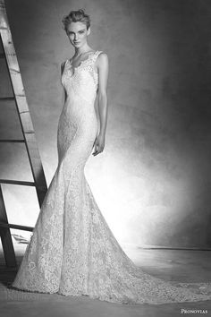 """""""Ingrid"""" -- Sleeveless Lace Mermaid Gown by Atelier Pronovias 2016 Haute Couture>>>>>>>>>>>>>>>>>>"""