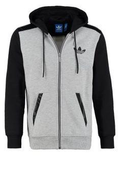 Bestill adidas Originals MIX MEDIA - Treningsjakke - medium grey heather for kr 699,00 (21.01.15) med gratis frakt på Zalando.no