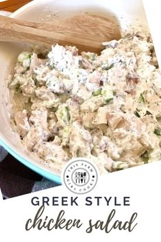 This Greek Chicken Salad Wraps recipe is chocked full of flavor and has no mayonnaise, making it a lighter and healthier version of chicken salad. Olive Recipes, Wrap Recipes, Greek Recipes, Greek Style Chicken, Greek Yogurt Chicken Salad, Salad Wraps, Lettuce Wraps, Cucumber Recipes, Salad Recipes