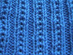 how to knit using beaded rib knit stitch