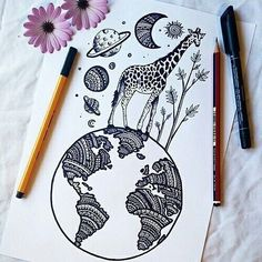 art, beautiful, drawings, earth