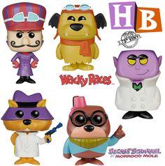 Bonecos Pop! Hanna Barbera Série 2: Dick Vigarista, Muttley, Esquilo Sem Grilo, Moleza Toupeira e Medinho Funko Pop Dolls, Funko Toys, Hanna Barbera, Funko Pop Figures, Vinyl Figures, Pop Custom, Pop Figurine, Funk Pop, Pop Toys