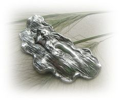 1 - WATER NYMPH Antique Silver Ox Brass - Jewelry Findings