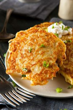 Boxty - a traditional Irish recipe!  An Irish potato pancake made with a mix of mashed and grated potatoes. Click through for recipe!