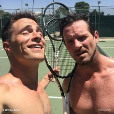 Ian Bohen and Colton Haynes, Jackson Wittemore and Peter Hale, Werewolf and Kanima, Teen wolf Peter Hale, Ian Bohen, Teen Wolf Boys, Teen Wolf Cast, Corey Hawkins, Handsome Older Men, Jeff Leatham, Colton Haynes, It Movie Cast