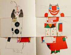 Le Théâtre de Minuit de Kvĕta Pacovská aux éditions Nord-Sud. Art Lessons For Kids, Art For Kids, Childrens Workshop, Concertina Book, Exquisite Corpse, Buch Design, Art Corner, Paper Crafts Origami, Handmade Books