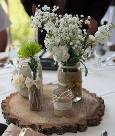 Jarra Mason Rústico Casamento Centro De Mesa Conjunto De 3 in Casa e jardim, Suprimentos para casamentos, Artigos decorativos e centros de mesa | eBay