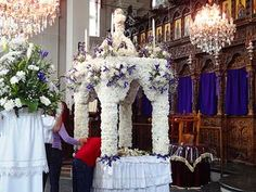 The 10 Most Beautifully Decorated Epitaphs of Greek Easter Orthodox Easter, Greek Easter, Christ Is Risen, Toronto, Events, Holiday Decor, Music, Beauty, Beautiful