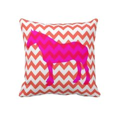 Horse Pillow....do brown horse on pink chevron. do pink patterned horse on brown pillow!
