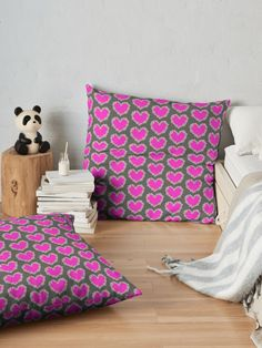 """""""Daisy heart in pink """" Floor Pillow by Mandsred1 