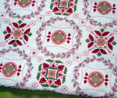 50s Vintage Cotton Blend - Fabulous Floral - Fifties Print - Pretty in Pink