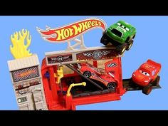 Hot Wheels Raceway Fire Station Playset Review by Blucollection Toy Collector Disney Pixar Cars - YouTube