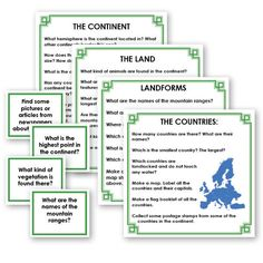 Geography Research Cards