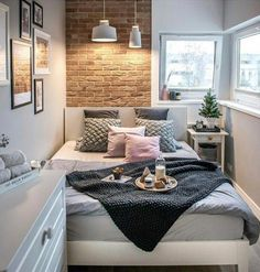 10 Enthusiastic Clever Tips: Basement Bedroom Remodel bedroom remodel on a budget furniture.Tiny Bedroom Remodel Spaces girls bedroom remodel built ins.Girls Bedroom Remodel Built Ins. Cozy Bedroom, Bedroom Decor, Bedroom Small, Narrow Bedroom Ideas, Bedroom Furniture, Bedroom Themes, Bedroom Lighting, Bedroom Inspo, Small Livingroom Ideas