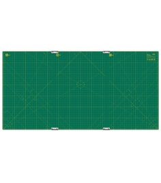 "Olfa® Gridded Cutting Mat Set 35""X70"" With Clips"