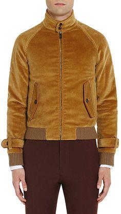Prada Men's Cotton Corduroy Bomber Jacket