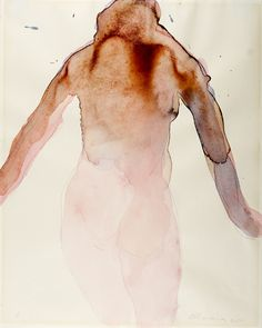 dionyssos: Nathan Oliveira Standing figure 1965 Watercolor on paper 14 x 11 Painting People, Figure Painting, Figure Drawing, Painting & Drawing, Watercolor Artwork, Watercolor And Ink, Illustration Art, Illustrations, Aesthetic Drawing