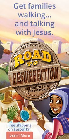 Engage everyone in an event that changes lives… Bring your entire church Road to Resurrection—the engaging, family-friendly event for all ages that gets everyone talking… and walking with Jesus!