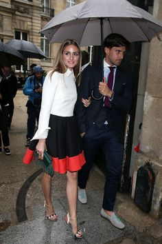 Olivia Palermo arriving at the Valentino show in Paris. See all of the model's best looks.
