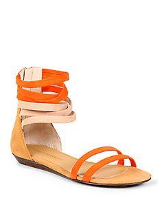 Rebecca Minkoff Baby Suede Ankle Strap Sandals