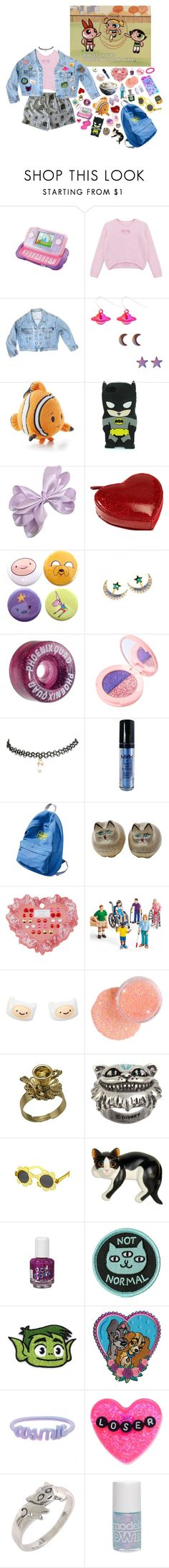 """""""Back at kindergarten"""" by queenofrocknroll ❤ liked on Polyvore featuring VTech, Chicnova Fashion, Roberto Piqueras, GUESS, Clava, Lime Crime, Wet Seal, NYX, WithChic and NOVICA"""