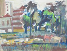 MARIO ZANINI - (1907 - 1971)    Título: Paisagem  Técnica: óleo sobre tela  Medidas: 37 x 47 cm  Assinatura: canto inferior esquerdo  Data/Local: 1966