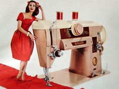 this was the machine my mom had and the one I learned to sew on!
