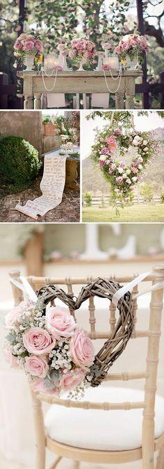 Ideas para una boda muy rom& en colores pasteles ++ CustomMade ++ M& Chic Wedding, Perfect Wedding, Wedding Ceremony, Rustic Wedding, Our Wedding, Dream Wedding, Luxury Wedding, Wedding Music, Spring Wedding