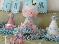 Silver spoons scraps-Marie Antoinette Custom Vintage Birthday Party Hat Package, Let them eat cake banner, guest hats, cupcake picks. $28.00, via Etsy.