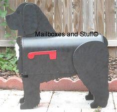 custom made, hand painted Cockapoo mailobx, cockapoo lover mailbox